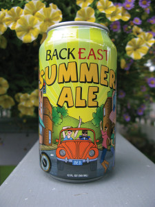 Summer Ale from Back East Brewery, Bloomfield, CT, which cans all of its beers.