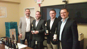 Rob Bradshaw, President and COO, Cape Classics; Jay Gruber, Regional Sales Manager NYC Metro, Cape Classics; Chris Morris, Regional Sales Manager, Cape Classics; and Vincent Renault, Director of Operations, Cape Classics.