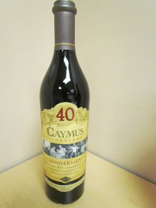 40th Anniversary Caymus Napa Cabernet special label edition.