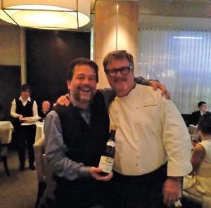 L'Espalier Chef Frank McClelland and Michel Chapotuier.