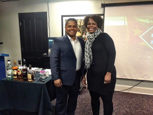 David Cid, Bacardí Brand Master and Dr. Juline Mills, University of New Haven Hospitality and Tourism Department Chair.