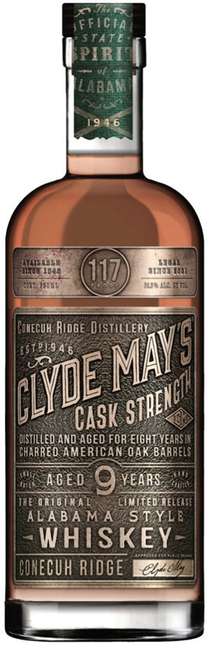 Clyde May's Offers New 9 Year Cask Strength Whiskey