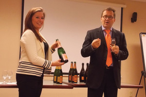 Ashley Kent, On Premise Account Manager, CT, Moet Hennessey USA with Cyril Brun, Winemaker, Veuve Clicquot.