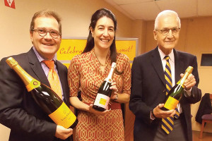 Cyril Brun, Winemaker, Veuve Clicquot with Wendy Eber, President, Slocum & Sons, Inc. and Lester Eber, Chairman and CEO, Slocum & Sons, Inc.