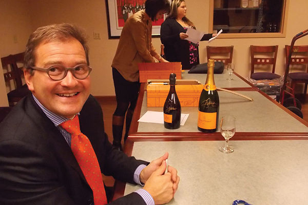 Winemaker Cyril Brun of Champagne Veuve Clicquot.