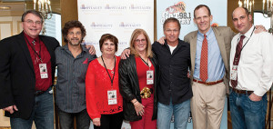 Organizers of the event: H. Robert Bacon, RIHA Chairman of the Board; Phil O'Donnell, Singer/Songwriter; Diane Vanpelt, Sprague Energy and Co-Chairperson of Drink Red Wear Red; Dale Venturini, President/CEO, RIHA; Tim James, Singer/Songwriter; Dan Spears, VP of Industry Relations and Licensing, BMI; and Joseph Vigliotti, US Foods and a Co-Chairperson of Drink Red Wear Red.  Photos by Richard Kizirian Photography
