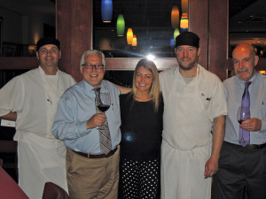 Ted Burnett, Executive Chef, Max Amore; Mark Conley, Owner, Max Amore; Valentina Abbona; Ben Slogesky, Sous-Chef, Max Amore; Bob Kohnstam, General Manager, Max Amore.