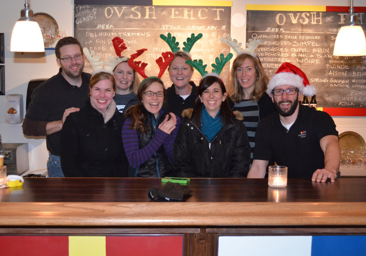 The Overshores Brewing Co. team.