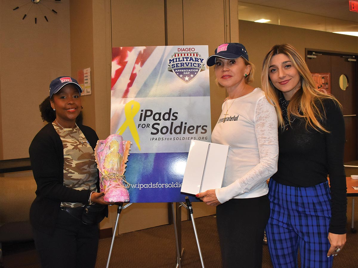 Diageo Volunteers Assemble Holiday Care Packages for Troops