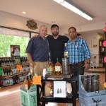 Ty Nicholson, Wine and Spirit Director, Vino et al; Glendalough's Brand Manager, Donal O'Gallachoir; Hemant Sujan, Owner, Vino et al, during an in-store tasting.
