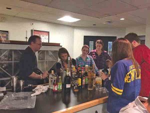 DeSerio and students created cocktails on National Vodka Day.
