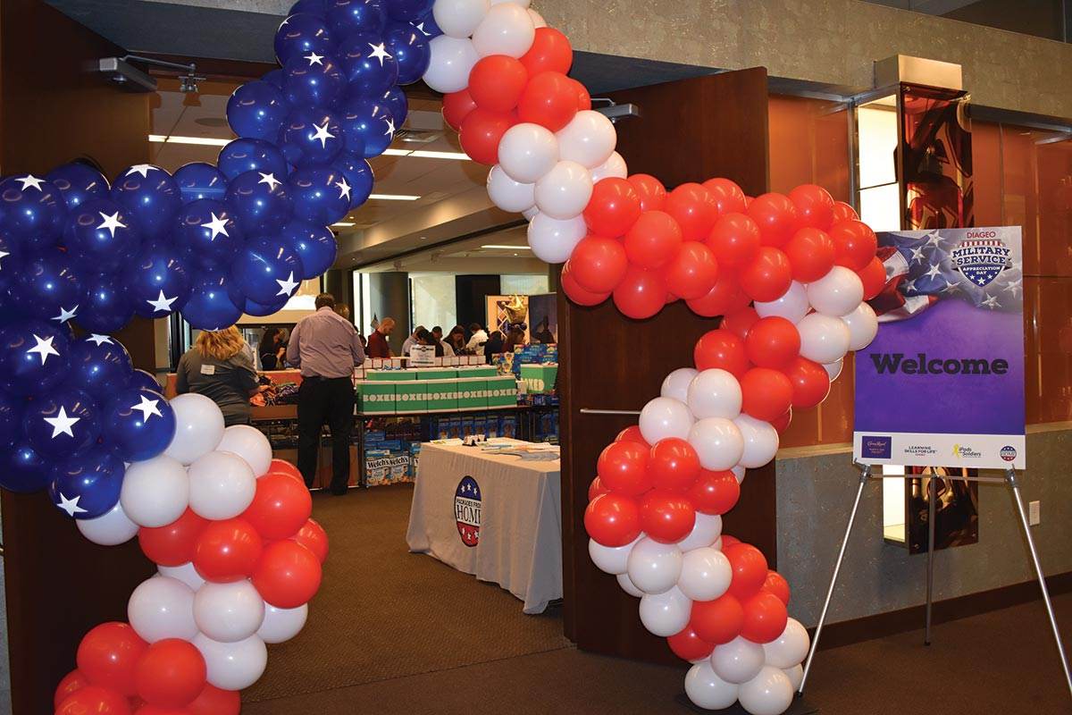 Diageo Employees Assemble Care Packages for Troops