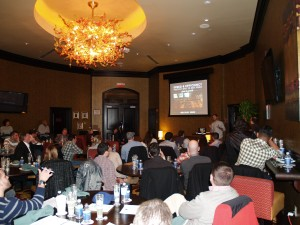Guests at the Diageo World Class Lab held at Twin River Casino.