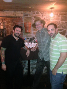 Dimitrios Zahariadis, & Joe Fee of Fee Brothers Bitters with Carl Summa