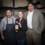 Paul Sevigny, Director of Brand Ambassadors, Disaronno International; Stephanie Merola, Bar Manger, Andino's; and Richard Cadavid, NE Area Manager, Disaronno International.