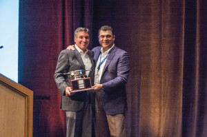 Angelo Collins, President, Horizon Beverage Company of Rhode Island and Johnny Manuel, Vice President and Director of Field Sales, Brown-Forman.