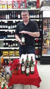 Dave Drobiak, Territory Sales Representative, Northeast Beverage of CT, showcased Donegal Estates Irish Whiskey at Griswold Liquors in Griswold, Connecticut.