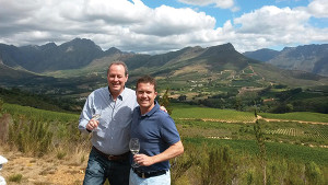 M.S. Walker President Doug Shaw and Thomas Webb, General Manager of Thelema Mountain Vineyards, the first winery represented by Cape Classics and imported to the U.S. through M.S. Walker.