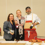 Newport Vineyards/Brix Restaurant & Vineyard Café's Jenna Miller, Event Coordinator; Caroline Robertson, Brix Bar Manager; and Andy Teixeira, Executive Chef.