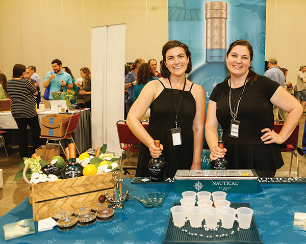 Nautical Gin's Kara Dodd, Social Media Consultant and Erin Henning, Director of Relations Strategy.