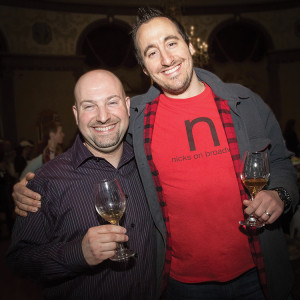 Festival founder David Dadekian and Chef Derek Wagner of Nicks on Broadway. Photo by Chris Almeida.