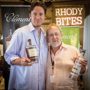 Benjamin Melin-Jones, Fourth Generation Clément and managing director, Clément USA, with Alexei Beratis,  Inspired Beverages. Photo by Chris Almeida.