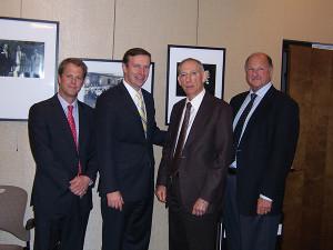 Cutter Smith, Senior Vice President, Eder Bros., Inc.; Senator Chris Murphy; Richard Weiss, Executive Vice President, Eder Bros., Inc.; and Andrew Eder, President, Eder Bros., Inc.