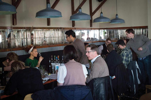 The tasting underway. Photo by Chris Almeida.