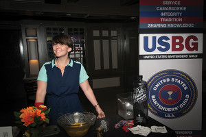 Laura Moore of Gracie's and USBG RI President served up punch to benefit the association chapter.