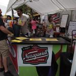 Narragansett Beer's booth at Foo Fest.