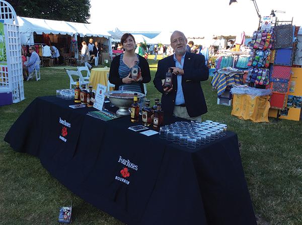 Four Roses Bourbon Pours at Newport Flower Festival