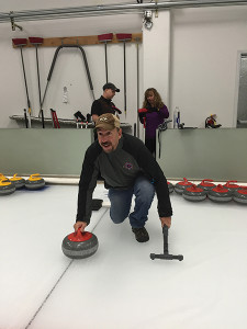 Events were scheduled at various locations throughout Portland. Frank Martucci, General Manager of Beverage Operations at Twin River Casino and USBG President of the National Charity Foundation, shown curling during a PDXCW event sponsored by Hendrick's Gin.