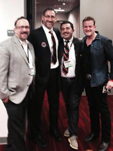 "Frank Martucci, Vice President, USBG; David Nepove, President, USBG; Reza Esmaili, Northwest VP USBG; Russell Davis, ""Bar Rescue"" show expert."