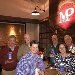 Back Row: Peter Baker, Owner, Litchfield Distillery; David Baker, Owner, Litchfield Distillery; Paul Burne, Key Account Manager, Slocum & Sons; Piper Thurot, Sales Associate, Slocum & Sons. Front Row: Brad Kirby, Beverage Director, Marketplace Kitchen and Bar; Courtney Maggio, General Manager, Marketplace Kitchen and Bar.