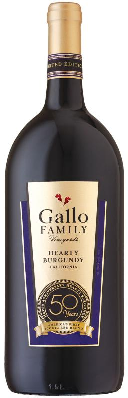 Gallo Celebrates 50th Anniversary of Hearty Burgundy Wine