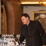 Rick Garced, VP National Accounts and Brand Educator, Gérard Bertrand Wines pours in preparation.