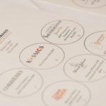 The tasting mat of Gérard Bertrand wines.