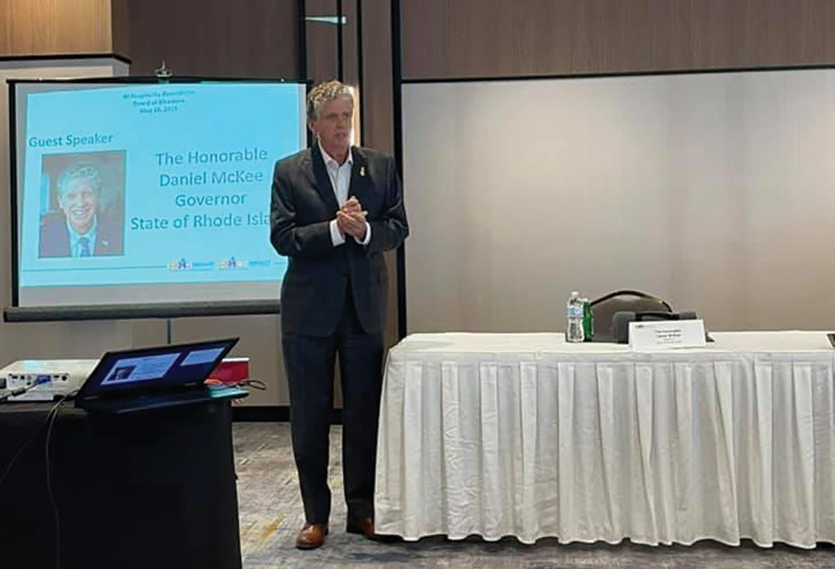 RI Hospitality Association Hosts Governor in Providence