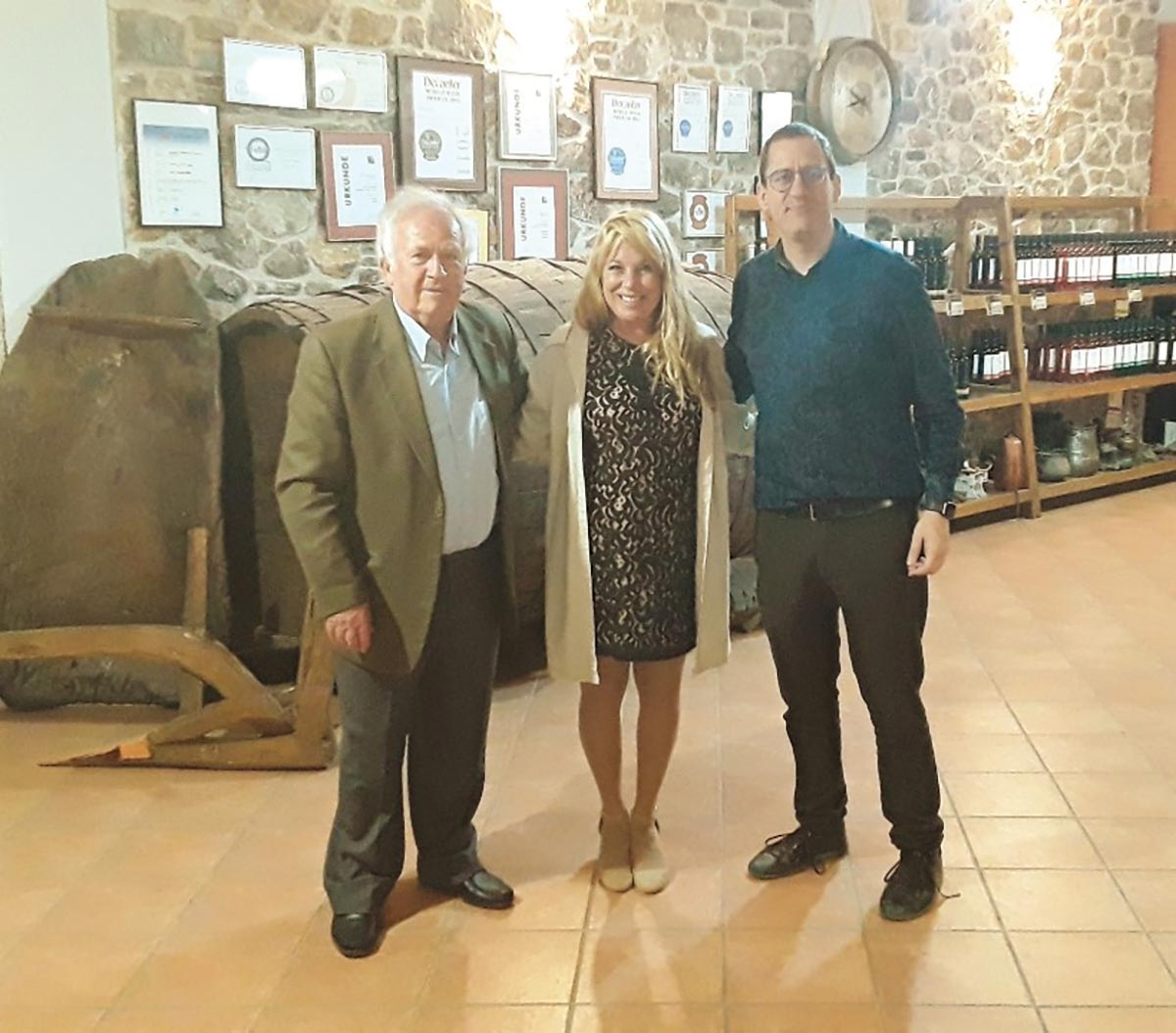 Mina Distributors Representative Tours Greek Wine Suppliers