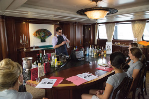 Jonathan Pogash leads a Professional Yachting Association (PYA) certification course. The PYA is the international trade association for yacht crew members.