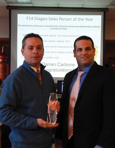Darren Carbone, Sales Representative, Hartley and Parker and Domenick Italiano, CT Distributor Manager at Diageo.