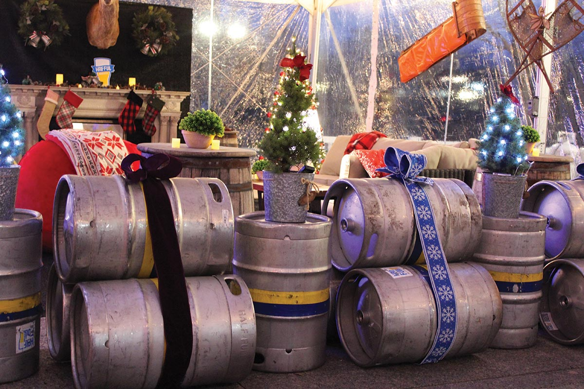 Half Full Brewery Hosts Winter Beer Garden