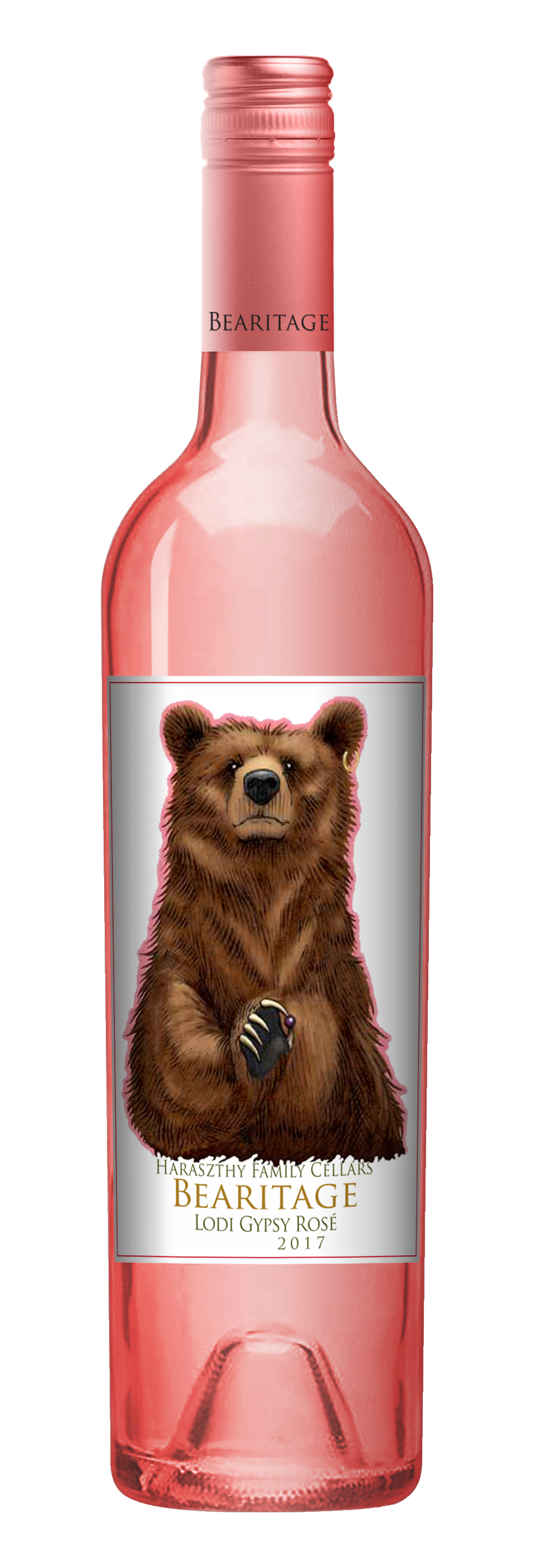 Haraszthy Family Cellars Releases Bearitage Lodi Gypsy Rosé