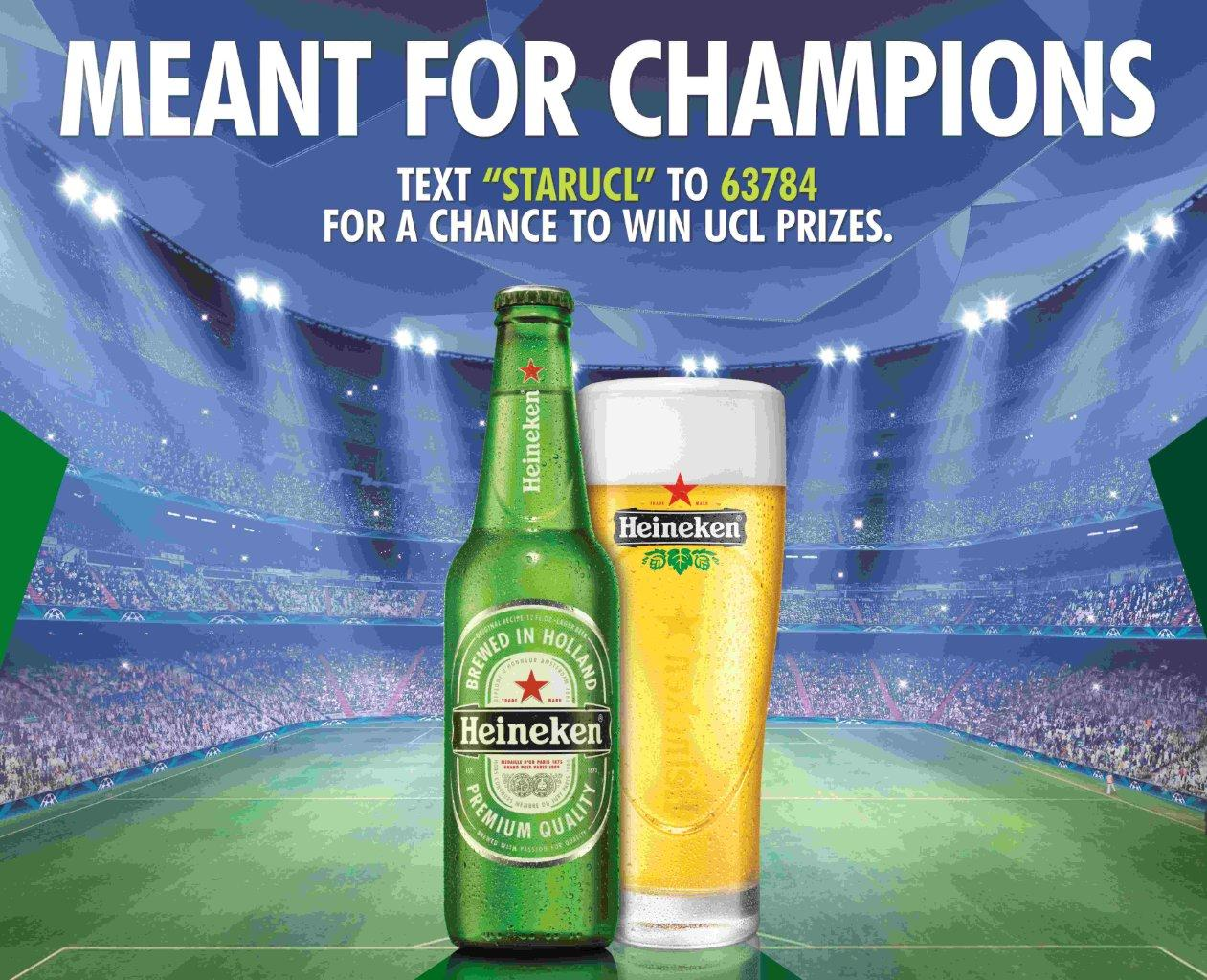 heineken and uefa champions league begin new marketing