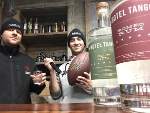 Sons of Liberty Spirits Founder and President, Mike Reppucci and staffer Bryon Ricard, enjoying a taste of victory.