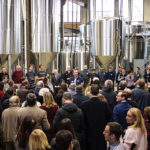 During the ceremony, Mark Hellendrung, the President of Narragansett Brewing Company, addressed the crowd about the brewery's return to its home state.