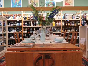 Bellevue Wine & Spirits tasting table