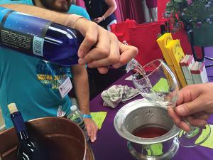 Hopkins Vineyard pours at The Connecticut Wine Festival.