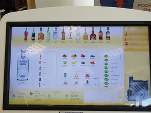 Interactive touchscreens enhance the shopping experience.