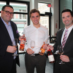 Mike Lester, On-Premise Manager, M.S. Walker; Colin Geoffroy, Leader of Hospitality Group, Providence G; and Bryan Hoffman, Fine Wine Portfolio Manager, M.S. Walker.